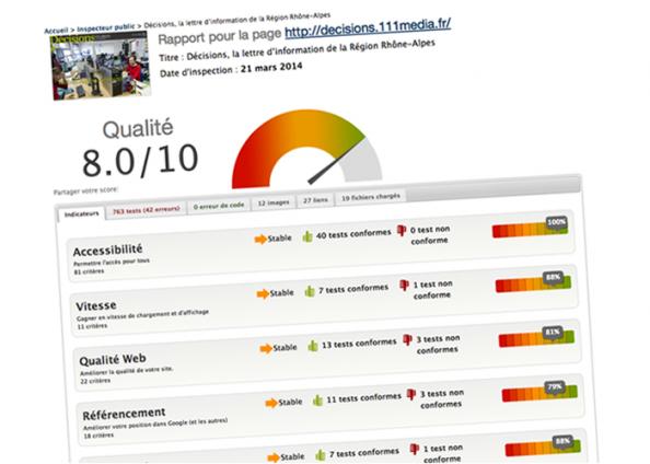 La plateforme a été auditée avec succès sur Opquast Reporting