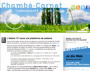 Article de Chambé-Carnet sur la plateforme de création de webzine 111 media